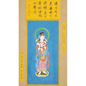 W1592   丁云鹏《佛像》(改琦、文彭、弘一法师提签拔)