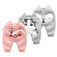 儿童裤子加绒加厚保暖休闲裤外穿秋冬装女童男童装女宝宝运动卫裤