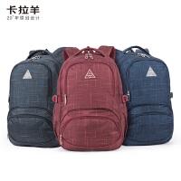 【下单立减120】卡拉羊休闲双肩包旅行背包电脑背包旅行背包CX5005