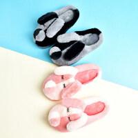 女生家居家用毛绒棉鞋 男童室内防滑儿童棉拖鞋 韩版卡通儿童可爱保暖棉拖鞋