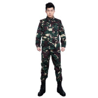 军迷服户外拓展训练服 军迷装备耐磨军训服 长袖长裤猎人迷彩套装