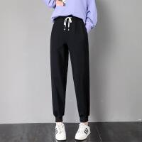 休闲裤 女士宽松大码高腰百搭哈伦裤2020春秋新款女式韩版外穿束脚运动裤