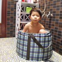 户外野营储水大桶盆60升自驾游旅行用品折叠水桶 新款便携儿童泡洗澡盆