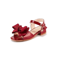 童鞋女童凉鞋露趾高跟鞋蝴蝶结夏季儿童沙滩鞋