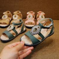 夏季童鞋儿童女童凉鞋公主鞋休闲潮魔术贴百搭