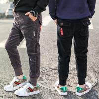 韩版中大童10-15岁洋气男孩帅气长裤男童春款灯芯绒裤子
