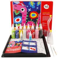 美乐joan miro儿童沙画套装梦幻夜色儿童手工彩沙礼盒DIY生日礼物包邮