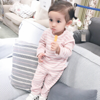婴儿套装春款6宝宝3个月新生儿季装长袖小童睡衣家居服新年