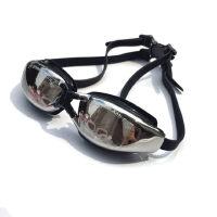 户外运动泳镜女男防雾 高清平光大框防水游泳眼镜 电镀