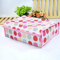 卡秀 收纳-粉色圆圈16格软盖收纳盒
