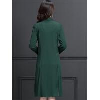 40岁妈妈装秋装两件套裙子女2018新款中老年女装时尚收腰连衣裙