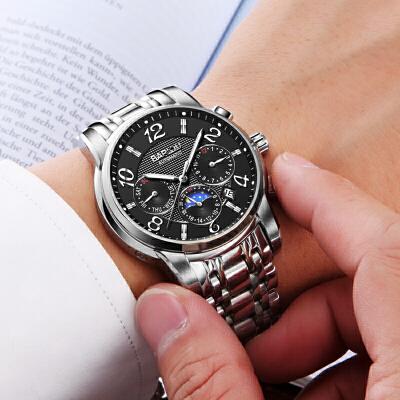 正品机械手表 新款机械表男士手表防水时尚男新款手表 品质保证 售后无忧 支持货到付款