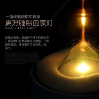 沙漏伴睡小夜灯led充电式卧室床头床灯触摸感应创意梦幻节能台灯