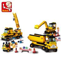 【当当自营】小鲁班模拟城市系列儿童益智拼装积木玩具 重型工程-工程总队M38-B9700