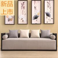 新中式实木沙发酒店民宿售楼处洽谈家具会所工程定制家具定制 组合