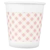 得力纸杯9569 加厚安全无毒无味一次性纸杯 耐高温 180ml 50只/袋