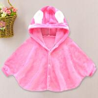 婴儿服装宝宝披风斗篷披肩春秋冬新款防风衣加厚外套包被抱毯 单层 0-2岁