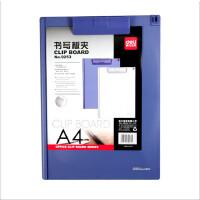 得力9255书写板夹写字垫板小菜单夹收据夹板A5 A6 A4耐用加厚板夹9253