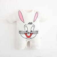 婴儿连体衣服宝宝季婴装哈衣新生儿睡衣短袖01岁3个月新年
