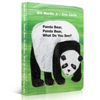 Panda Bear, Panda Bear, What Do You See? 熊猫,熊猫,你看到什么?Eric Carle卡爷爷经典幼儿启蒙认知英文原版绘本 早教亲子读物 纸板书 送音频