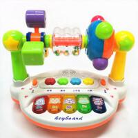 0-1-3岁益智玩具男孩女孩新生婴儿宝宝摇铃转台0-3-4-6-8-12个月
