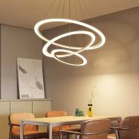 现代简约餐厅led吊灯圆环创意个性北欧卧室客厅酒店书房大厅灯具