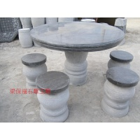 石桌石凳桌面花岗岩大理石雕花园家室外茶台庭院园林景观新品摆件