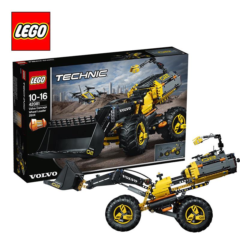 【当当自营】LEGO乐高积木机械组Technic系列42081  10-16岁沃尔沃概念轮式装载机 【12.12 年终狂欢】4轮转向功能,搭配测绘无人机!