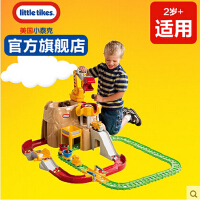LITTLE TIKES 美国小泰克铁路大冒险托马斯轨道模型儿童创意益智回力火车玩具男孩女孩玩具