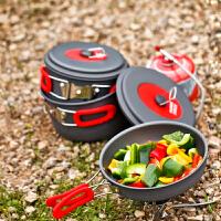 户外3-4人套锅 便携野营野外炊具锅具套装组合新品 送2个调味瓶+4格鸡蛋盒