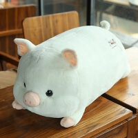 小猪毛绒玩具暖手抱枕女生儿童布娃娃公仔玩偶猪年吉祥物新年礼物 白色 love猪