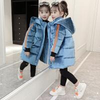 女童韩版9金丝绒洋气冬装10中大童休闲女孩棉袄11岁