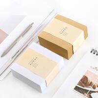 韩国文具创意牛皮纸方砖可撕便利贴N次贴便签记事本留言纸400张