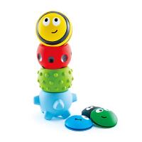 Hape虫虫软胶触感球堆塔 6-12个月 新生儿宝宝触觉感知手抓球 5个装 益智玩具 婴幼玩具E8411