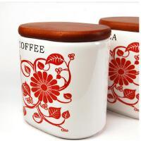 普润 厨房用品陶瓷密封罐三件套 陶瓷密封罐三件套 红色