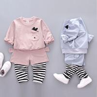 2018新款男童女童洋气运动套装婴儿时尚春装宝宝小童0衣服1-3岁潮