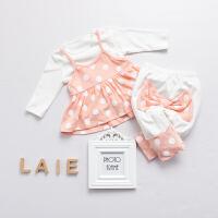 婴儿童三件套0岁5个月新生儿衣服季冬装2宝宝套装春季新年
