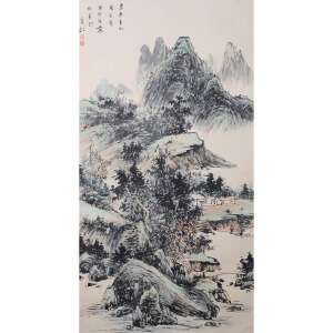 LJ1032黄宾虹碧水青山