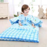 南极人 婴儿睡袋纯棉被子秋冬四季通用调温双内胆宝宝睡袋儿童防踢被可脱胆