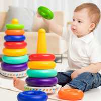 0一1岁宝宝玩具6个月以上婴幼儿童益智早教叠叠乐2-8六7七八9九十