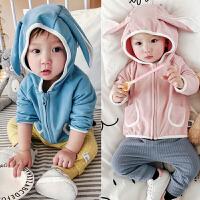 婴儿上衣春秋季宝宝外套拉链衫长袖全棉连帽外套01岁3-6-9-12个月