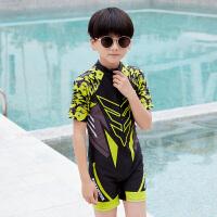 儿童泳衣 男童连体帅气中大童速干卡通男孩套装游泳泳装
