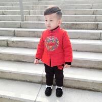 儿童唐装冬季男童套装中国风过年衣服喜庆宝宝拜年服装新年女童装