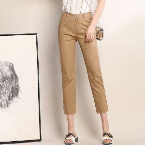 新款春夏季女九分裤修身显瘦裤韩版休闲铅笔小脚裤
