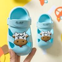 宝宝拖鞋夏1-3岁2儿童洞洞鞋婴儿幼儿男童室内家居防滑女童凉拖鞋