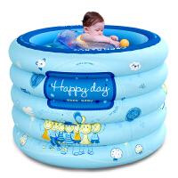 欧培 婴儿宝宝圆形充气游泳池 戏水池 儿童游泳桶 浴桶 洗澡桶