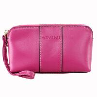 女式复古牛皮零钱包大容量手包拉链包女士手机包手拿包小包包