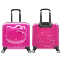 儿童拉杆箱旅行箱万向轮行李箱KT18寸可爱男女卡通登机箱 18寸(KT猫登机箱)
