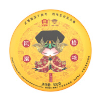 大益普洱茶叶 鸡年生肖纪念熟茶 凤凰格格100g