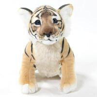 仿真老虎公仔毛绒玩具 虎布娃娃宝宝生日礼物玩偶抱枕 创意小老虎